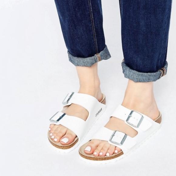 e1393350157e Birkenstock Shoes - Birkenstock White Arizona Nubuck Leather